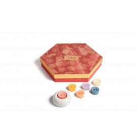 Geschenkset 18x Teelicht & 1 Halter Last Paradise Collection