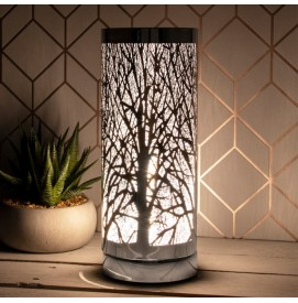 Aroma Lampe Duftlampe mit Touch Control Silber Tree