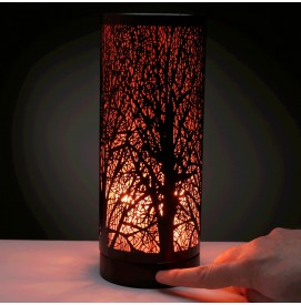 Aroma Lampe Duftlampe mit Touch Control Schwarz Rot Tree