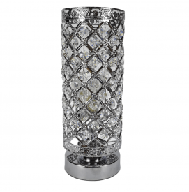 Aroma Lampe Duftlampe mit Touch Control Silber Elegance