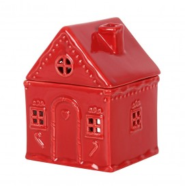 Rotes Gingerbread Haus Duftlampe