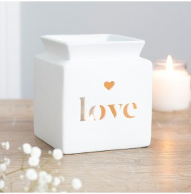 Weiße Love Duftlampe