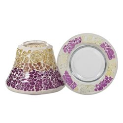 Purple & Gold Crackle Schirm-Set für 104g