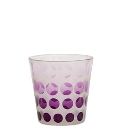 Pure Essence Purple Circles Votivhalter