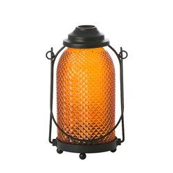Glas Laterne - Votivkerzenhalter Orange