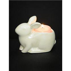 Pearlescent Crackle Teelichthalter - Bunny