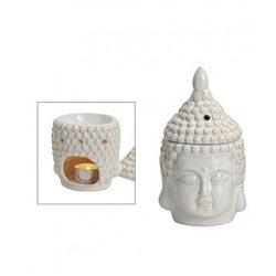 Duftlampe Buddha Weiß