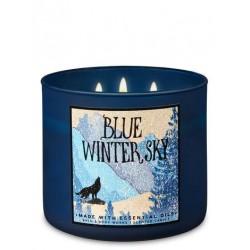 3-Docht Kerze - Blue Winter...