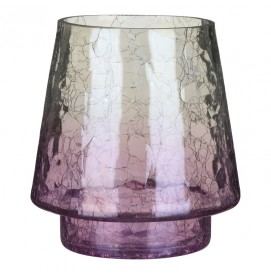 Savoy Purple Crackle Jar Holder