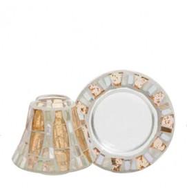 Gold Wave Mosaic Schirm-Set...